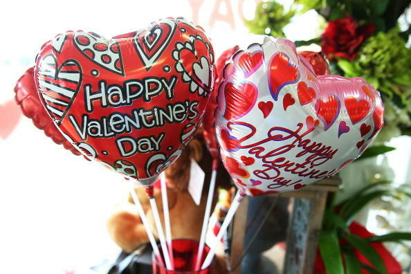 SYDNEY, AUSTRALIA - FEBRUARY 12:  Valentine's Day ballons are  displayed inside a florist as Sydneysiders prepare for Valentine's Day on February 12, 2014 in Sydney, Australia. St. Valentine's Day or the Feast of Saint Valentine began as a celebration of