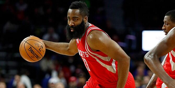 AUBURN HILLS, MI - NOVEMBER 21: James Harden #13 of the Houston Rockets plays against the Detroit Pistons at the Palace of Auburn Hills on November 21, 2016 in Auburn Hills, Michigan. NOTE TO USER: User expressly acknowledges and agrees that, by downloadi