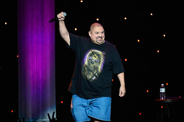 LOS ANGELES, CA - APRIL 04:  Comeidan Gabriel Iglesias, Fluffy performs at KROQ Presents Kevin & Bean's April Foolishness at The Shrine Auditorium on April 4, 2015 in Los Angeles, California.  (Photo by Frazer Harrison/Getty Images)
