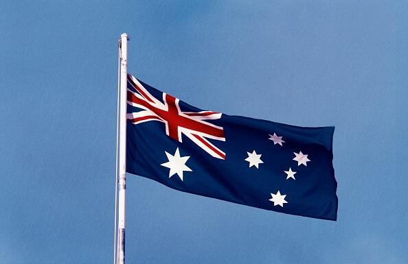 AUSTRALIA - FEBRUARY 9: The national flag, Australia. (Photo by DeAgostini/Getty Images)