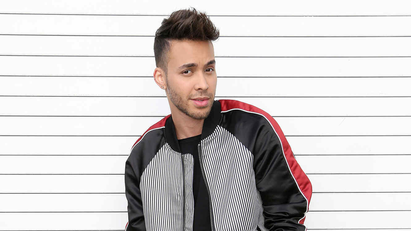 MIAMI, FL - FEBRUARY 1:  Prince Royce is seen on the set of