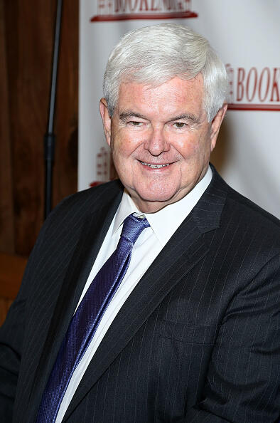 RIDGEWOOD, NJ - OCTOBER 12:  Newt  Gingrich signs copies of the book
