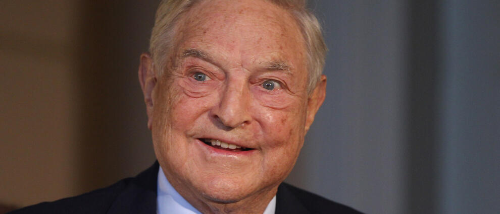BERLIN, GERMANY - SEPTEMBER 10:  Billionaire investor George Soros speaks on