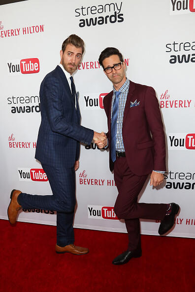 BEVERLY HILLS, CA - OCTOBER 04: Rhett and Link arrives at the 2016 Streamy Awards at The Beverly Hilton Hotel on October 4, 2016 in Beverly Hills, California.  (Photo by David Livingston/Getty Images)
