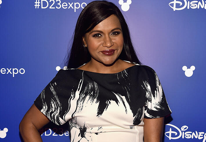 ANAHEIM, CA - JULY 15:  Actor Mindy Kaling of A WRINKLE IN TIME took part today in the Walt Disney Studios live action presentation at Disney's D23 EXPO 2017 in Anaheim, Calif. A WRINKLE IN TIME will be released in U.S. theaters on March 9, 2018.  (Photo