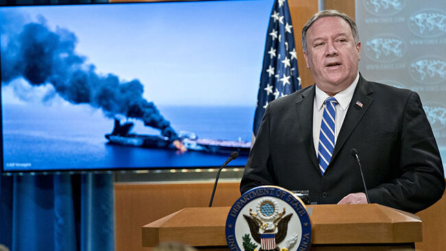 Secretary Of State Pompeo Says Iran Responsible For Attack On Two Oil Tankers