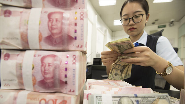 Chinese Currency Exchange Rate Fell Beyond 7