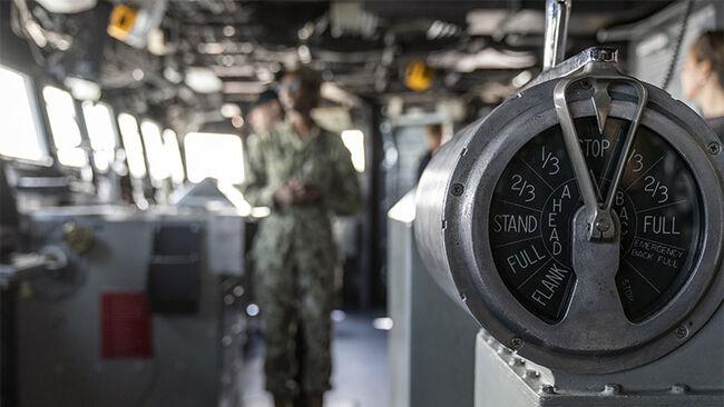 Onboard the U.S. Navy's Seventh Fleet flagship, USS Blue Ridge
