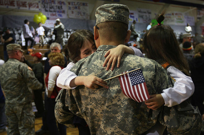 Army Soldiers Return Home To Fort Carson From War In Iraq