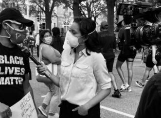 Rachel Scott on Being a Black Journalist: I 'Slowly Reach for My Press ID'