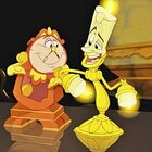 FIRST LOOK: Cogsworth & Lumiere From New