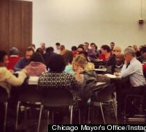 Chicago Mayor Rahm Emanuel suffers setback Tuesday morning.