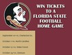 Win Tickets to an FSU Football Home Game