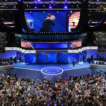 Snopes Caught Lying About Lack Of American Flags At Democratic Convention