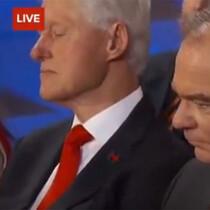 Bill Clinton Caught Napping During Hillary Speech? (VIDEO)