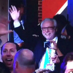 Wolf Blitzer Drinks Wine, Dances Following DNC (VIDEO)