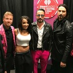 Watch The Backstreet Boys Crash Tinashe's Interview, Sing Impromptu Duet At iHeartRadio Music Festival (VIDEO)