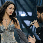 Bella Hadid Struts Down Catwalk As Ex The Weeknd Performs During VS Fashion Show