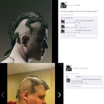 The most awesome hair cut EVER!!! Seriously dude ***steps aside, applauds, bows