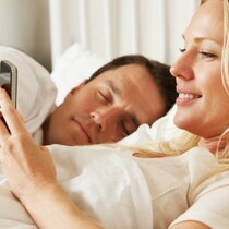(SIGN OF THE TIMES!).... PHONES, TABLETS BECOMING MORE POPULAR IN THE BEDROOM THAN TV