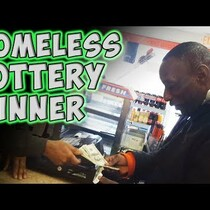 WATCH: Homeless Lottery Winner
