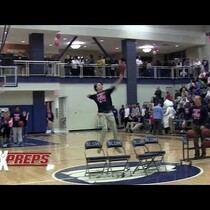 FEEL GOOD: 1 ARMED STUDENT MAKES HALF COURT SHOT AND DONATES THE PROCEEDS TO CANCER RESEARCH (VIDEO)