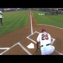 Angels Hitting Coach Don Baylor Broke His Leg During the Ceremonial First Pitch