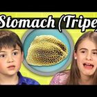 Kids React: Eating Cow Stomach (Tripe)