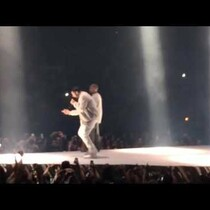 KANYE WEST brings out DRAKE for final show on his Yeezus Tour