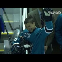 San Jose Sharks fan with heart condition gets to skate with team