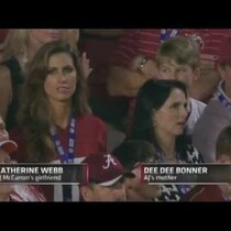 TV Announcer Brent Musburger Being A PERV during the Alabama/Notre Dame Game
