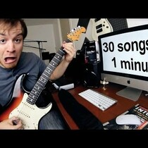 Guy Plays 30 Songs In 1 Minute!