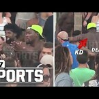 Kevin Durant and DeAndre Jordan live it up in Greece