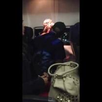 VIDEO: WOMAN FREAKS OUT ON PLANE B4 LANDING! WOW!