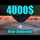 Man Destroys $4000 Diamond In Hydraulic Press!!!