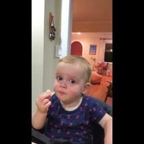 Little Girl Has Priceless Reaction To Salt And Vinegar Chips [Video]