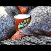 WHY NOT, A CAN OF RAVIOLI AND LAVA IN HAWAII