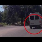 Man Dragged Behind Bus, Lets Go, Run Over By A Van... Stands Up To Talk To The Driver