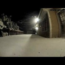 Blizzard Captured By Time Lapse Cameras