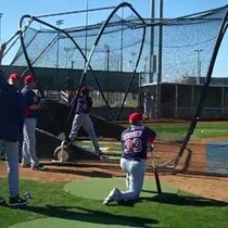 VIDEO: Indians batting practice in Goodyear