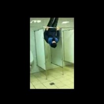 [VIDEO] The Public Bathroom Is NOT The Place To Show Off Your Gymnastics Skills