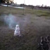 Watching this snowman explode will make you feel better about winter