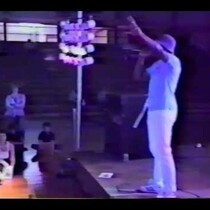 LL Cool J at age 17 and DJ Cut Creator perform live. 1985.