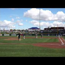 Mathew throws out the first pitch at The Cubs park!