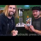 Crushing DVDs With A Hydraulic Press
