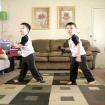 Boys dancing