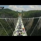 Walk on worlds longest glass bottom bridge!