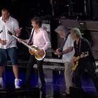 He's so weird...Gronk playing Air Guitar with Sir Paul McCartney...