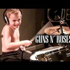 6 Year old Drummer Kills it on Welcome to the Jungle