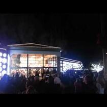 Christmas lights AND Fireworks!